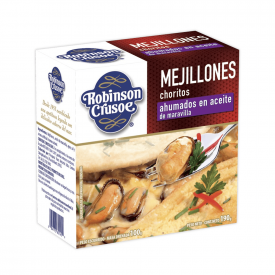Robinson Crusoe Mejillones Ahumados 190 g