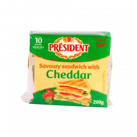 President Cheddar Sanduche 200GR